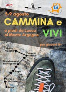 Giovani: a piedi da Lucca all'Argegna