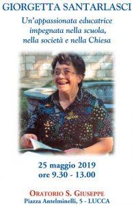 Convegno in ricordo di Giorgetta Santarlasci @ Oratorio San Giuseppe | Lucca | Toscana | Italia