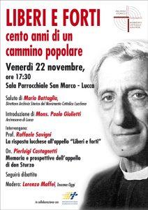 Centenario appello don Sturzo @ parrocchia san Marco Lucca