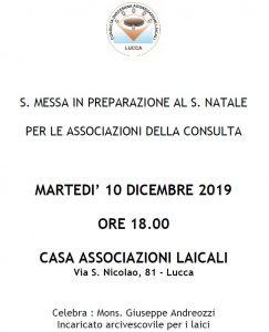 Associazioni: messa in preparazione del Natale @ via san nicolao 81
