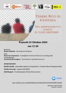 Tessere reti di giustizia, diritto d'asilo e respingimenti in mare @ Evento Online
